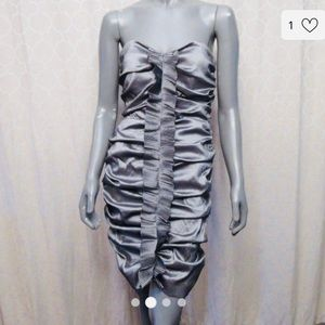 Calvin Klein gun metal strapless dress size 12